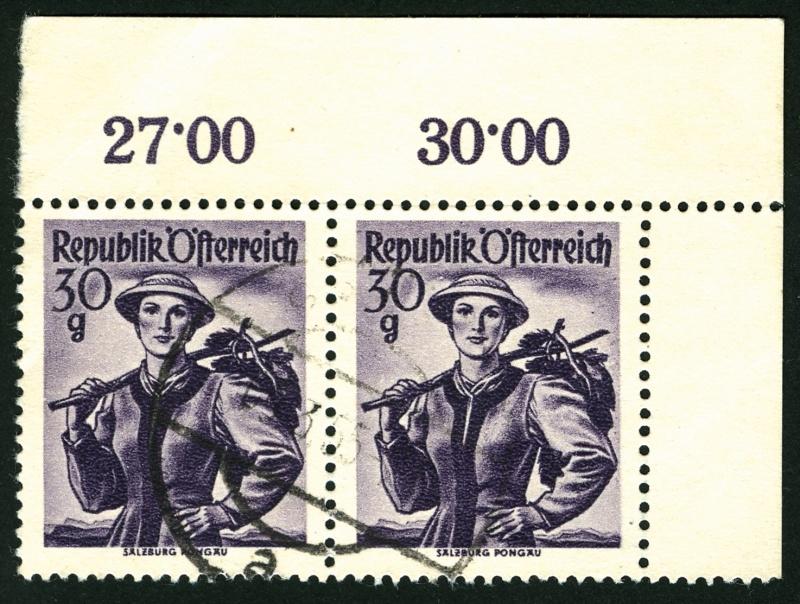 Kreuzkammzähnung bei Österreichische Briefmarken? Kreuzk10