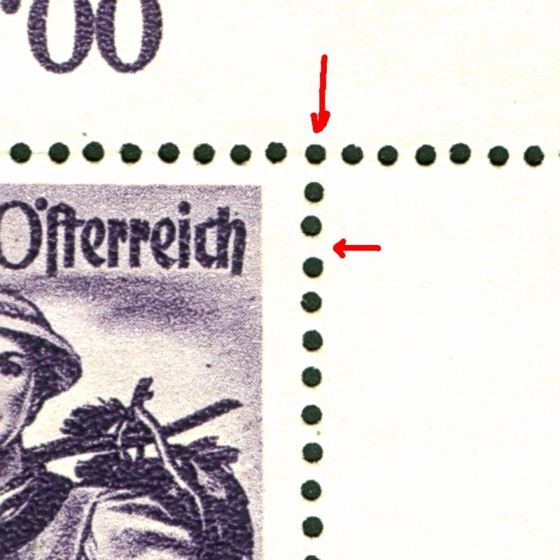Kreuzkammzähnung bei Österreichische Briefmarken? Kreuzk11