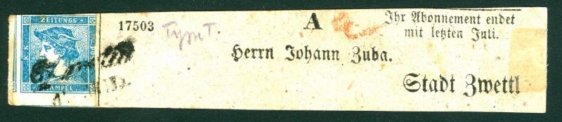 DIE ZEITUNGSMARKEN AUSGABE 1851 Merkur10