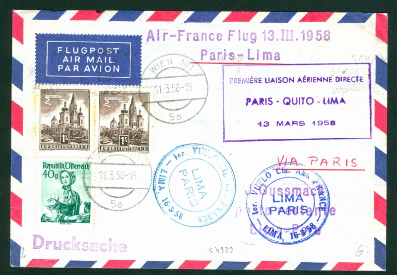 Flugpost Frankreich, wer weiß etwas dazu? Paris-10