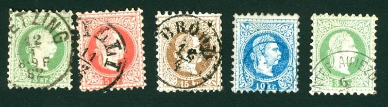 Freimarken-Ausgabe 1867 : Kopfbildnis Kaiser Franz Joseph I - Seite 3 Stempe11