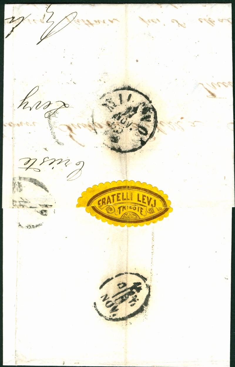 Brief von Triest nach Torino : Hilfe gefragt beim analysieren Triest11