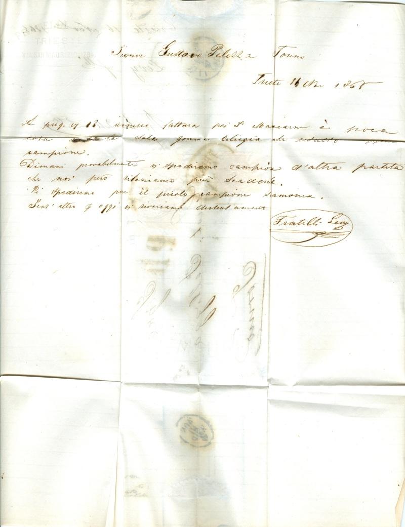 Brief von Triest nach Torino : Hilfe gefragt beim analysieren Triest12