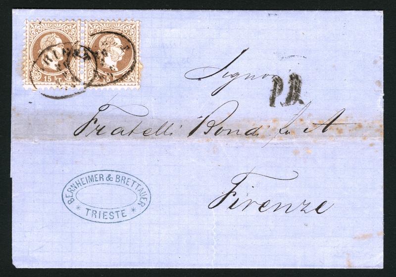 Freimarken-Ausgabe 1867 : Kopfbildnis Kaiser Franz Joseph I - Seite 3 Triest13
