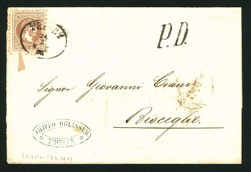 Freimarken-Ausgabe 1867 : Kopfbildnis Kaiser Franz Joseph I - Seite 3 Triest14