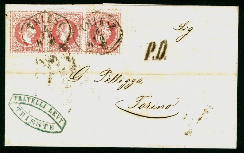 Freimarken-Ausgabe 1867 : Kopfbildnis Kaiser Franz Joseph I - Seite 3 Triest16