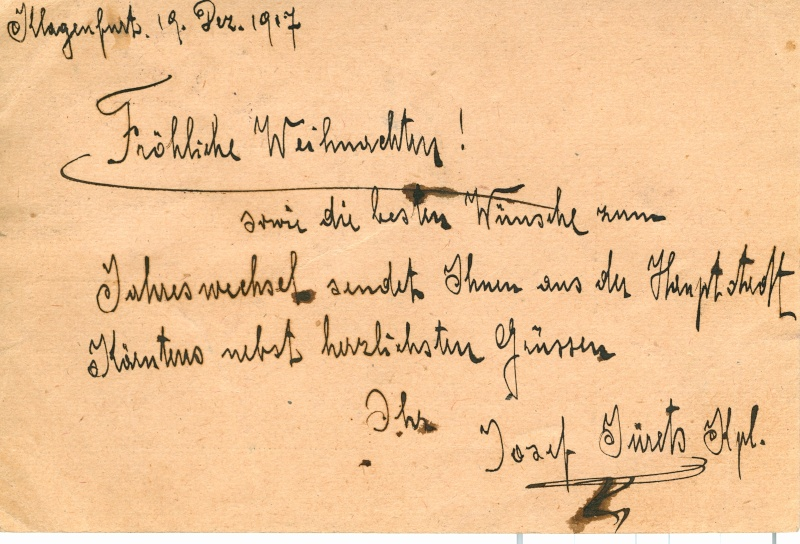 Karte Dez. 1917 in die Schweiz Verso11
