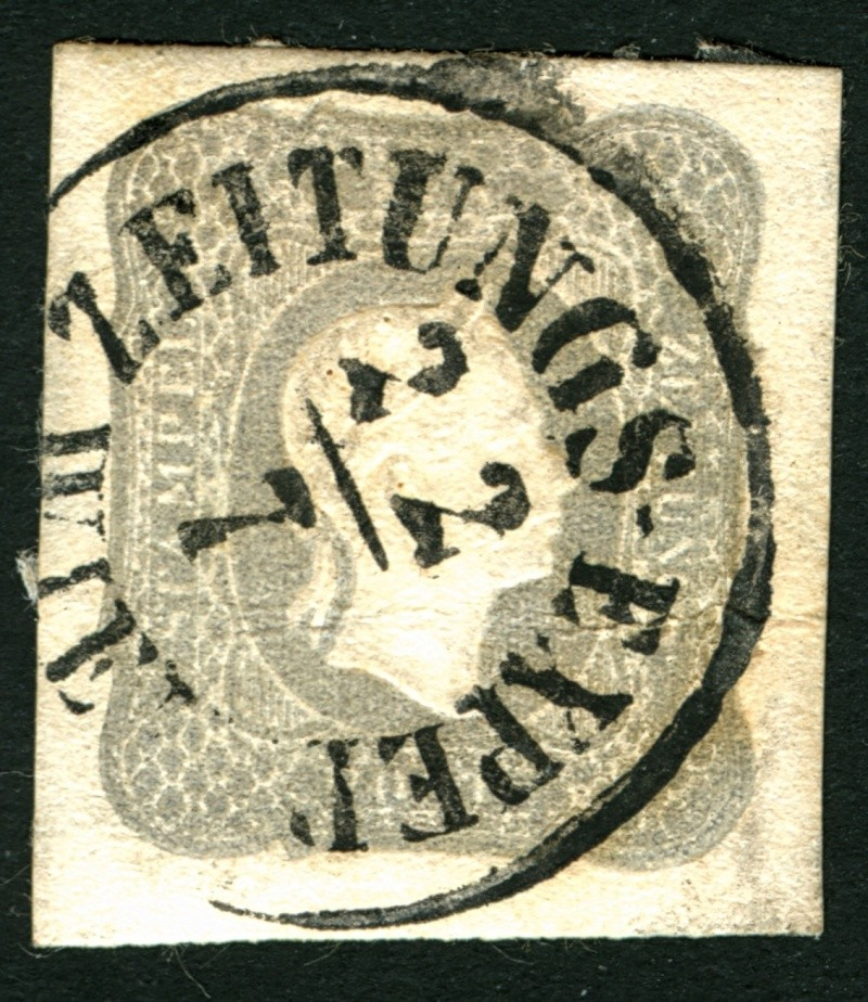 DIE ZEITUNGSMARKEN AUSGABE DES JAHRES 1861 Zeitun12