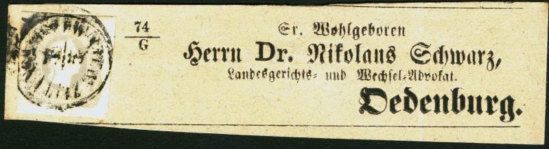 DIE ZEITUNGSMARKEN AUSGABE DES JAHRES 1861 Zeitun13