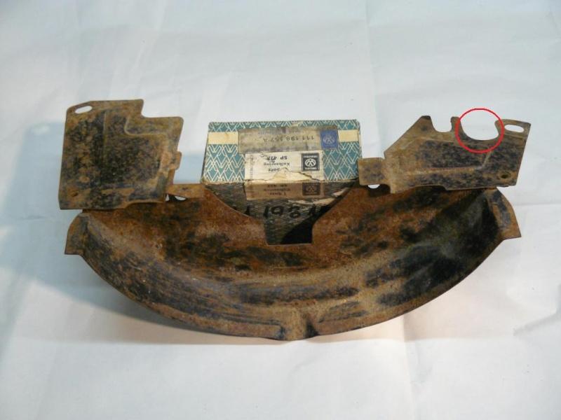 Tôles moteur poulie et arrière moteur P1050910
