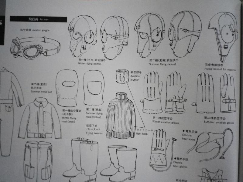 Bonnet de vol, lunettes et hachimaki. Imgp4511