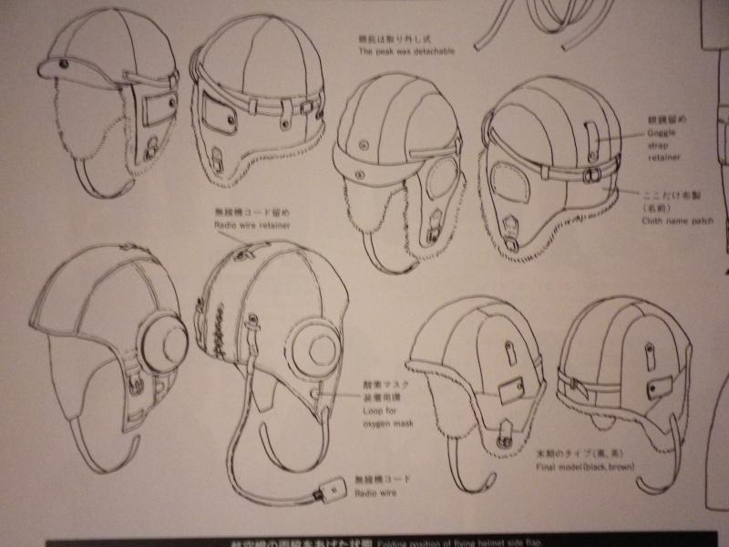 Bonnet de vol, lunettes et hachimaki. Imgp4515