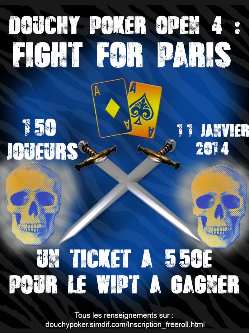 DOUCHY POKER OPEN 4 : FIGHT FOR PARIS Affich10