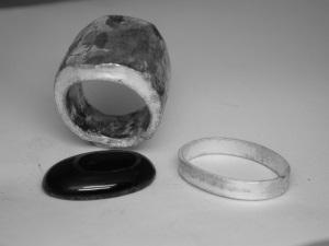 Bague Argent Onyx cabochon 24 x 18 mm serti clos Dscn2615