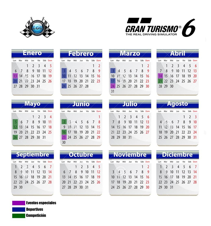 Comienza la Temporada 2014 de Gran Turismo 6 en CGC Calend16