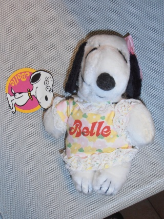 Peluche Belle bean bag.( Snoopy). Butterfly originals. 1965. Prodotta in Italia.Nuova. 10210
