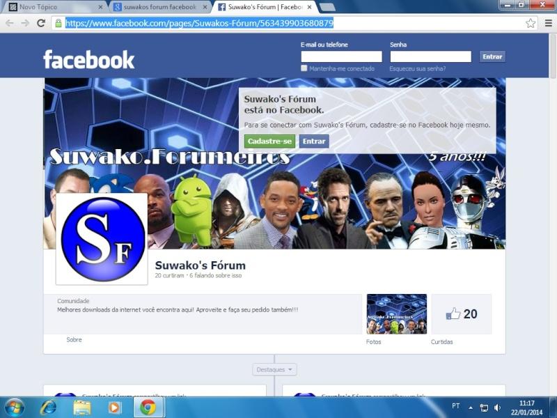 Página do Suwako's Fórum no Facebook Suwafa10