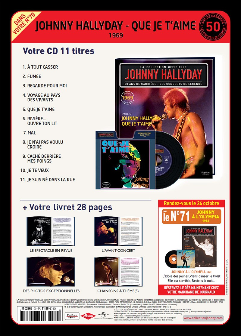 Volume 70 Que Je T'aime 1969 Jhcoll11
