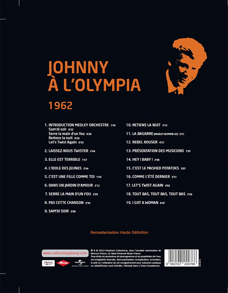 Volume 71 Johnny A l'Olympia 1962 Jhcoll19