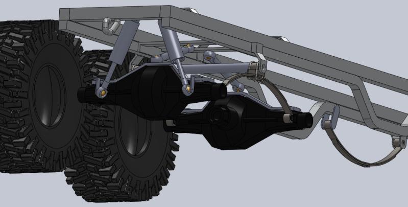 Unimog U5000 6x6  sur base axial Suspen10
