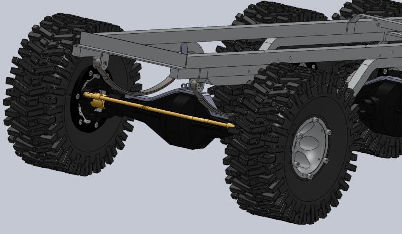 Unimog U5000 6x6  sur base axial Suspen11