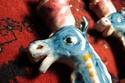 ITALY - X2 Seahorse lights      Manifattura Artistica Ceramica Salernitana _img_511