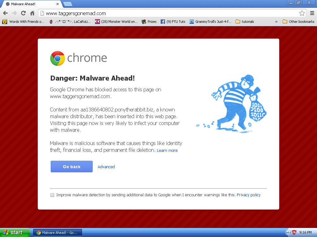 Malware Issues Have Not Been Resolved Screen10