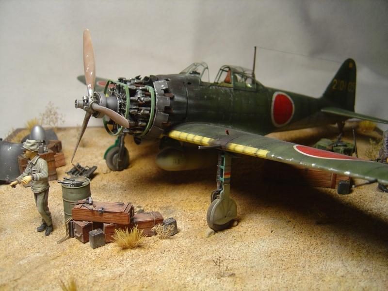 diorama 1/32 Mitsubishi A6M5 Zero tamiya Dsc04511