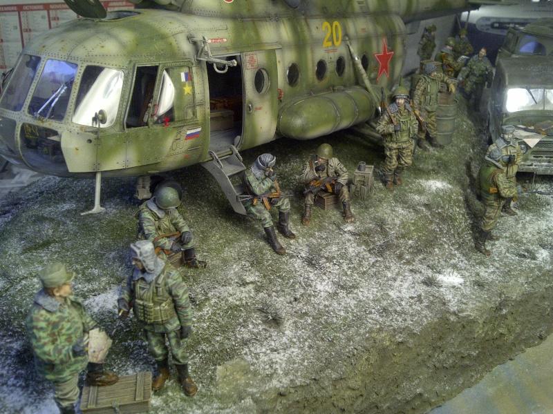 diorama hélicoptère MIL MI 8 Saint-17