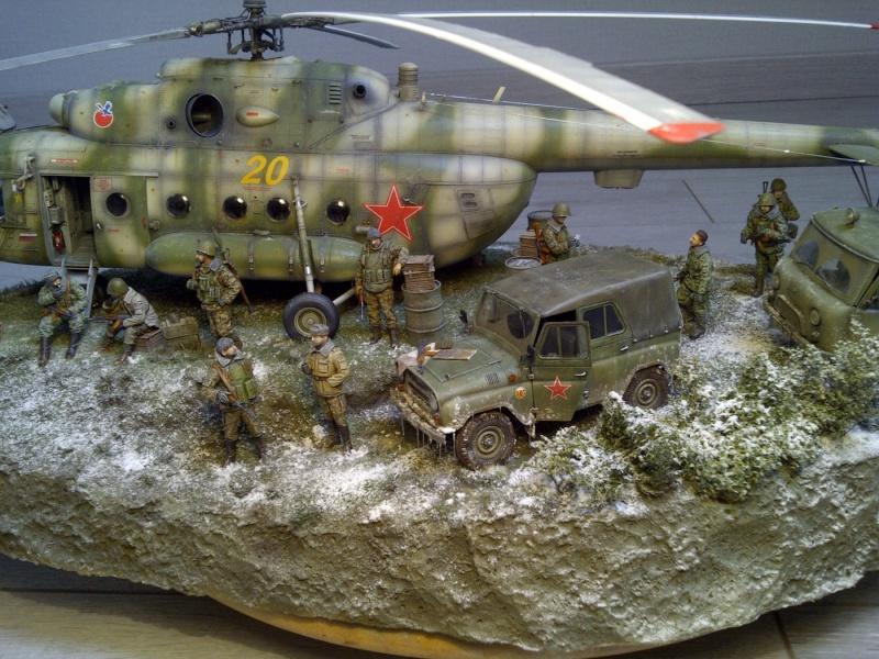 diorama hélicoptère MIL MI 8 Saint-44