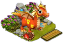 Dragon Rouge => Oeuf de Dragon Sans1044