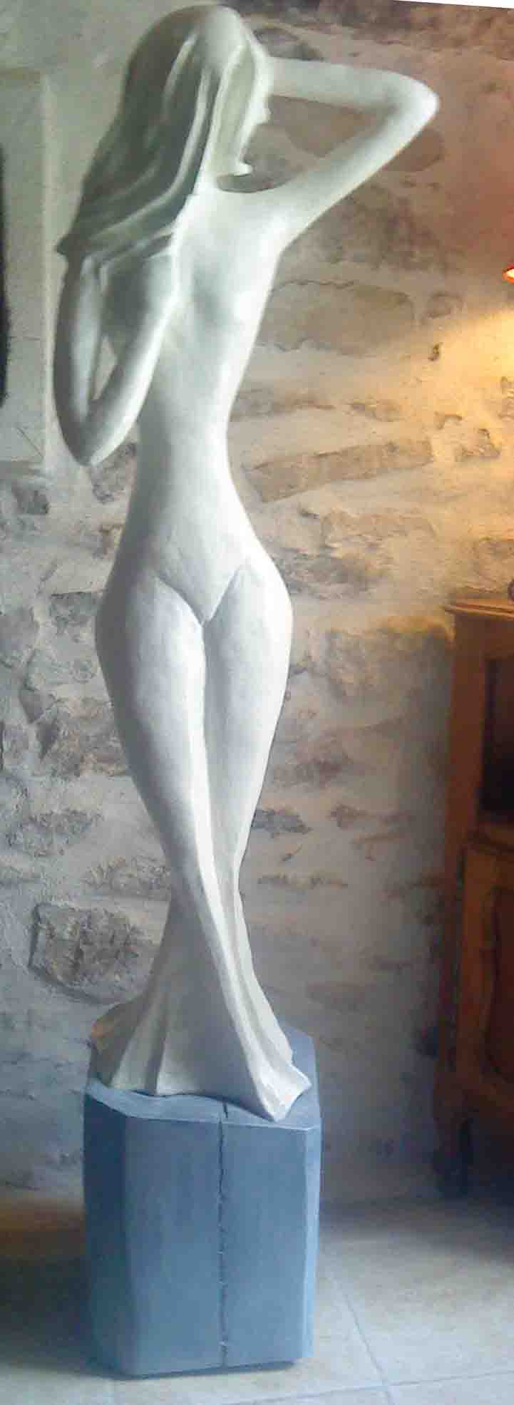 Sculpture argile de grande taille Varita10