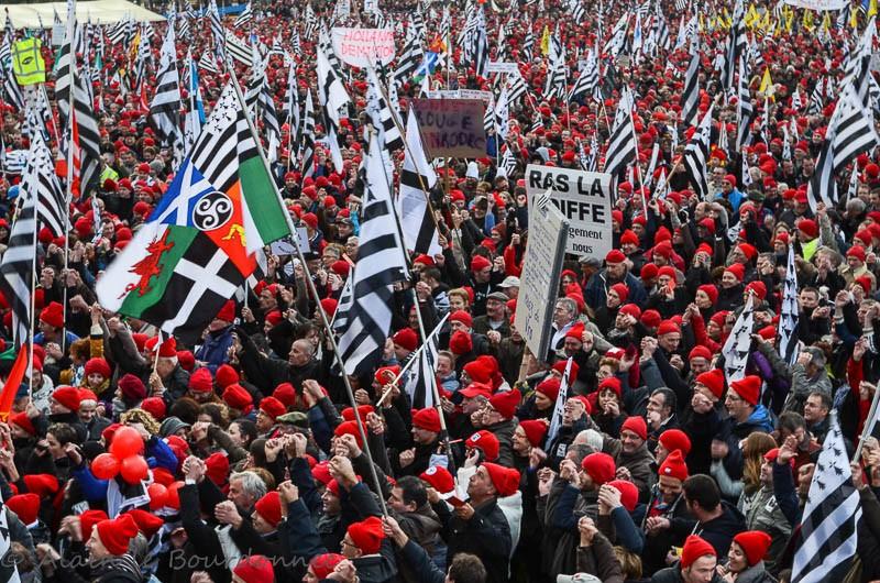 les bonnets rouges a Carhaix 30112011