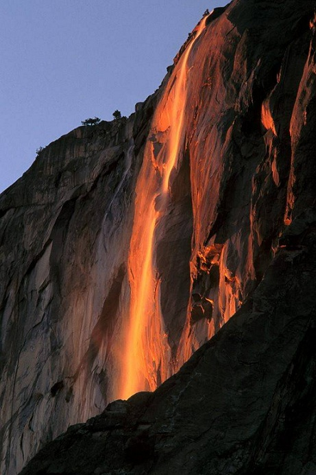 Horsetail Fall, cascade de feu Fiery-10
