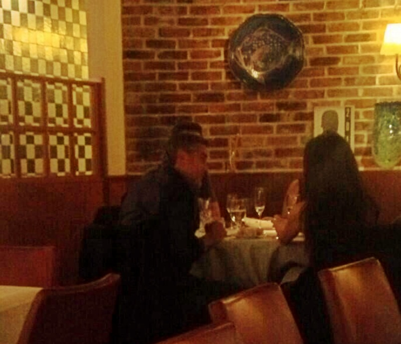 Photo: George Clooney at dinner in Vancouver 18 Dec 2013 G-dinn10
