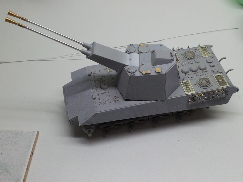 E-75 Flakpanzer [TRUMPETER] PE [VOYAGER MODEL] Canons [RB MODEL] Chenilles [FRIUL] (Weather en cours 20131111
