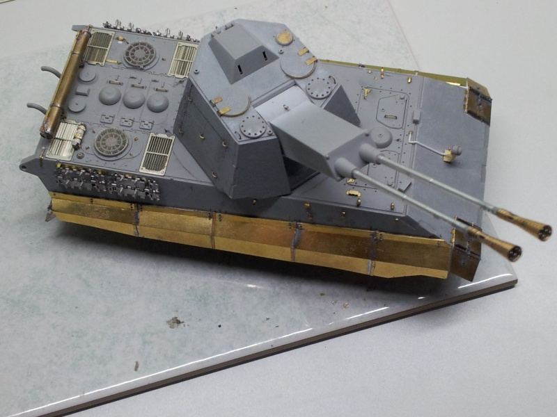 E-75 Flakpanzer [TRUMPETER] PE [VOYAGER MODEL] Canons [RB MODEL] Chenilles [FRIUL] (Weather en cours 20131216