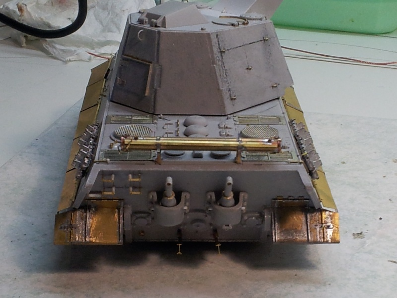 E-75 Flakpanzer [TRUMPETER] PE [VOYAGER MODEL] Canons [RB MODEL] Chenilles [FRIUL] (Weather en cours 20131219