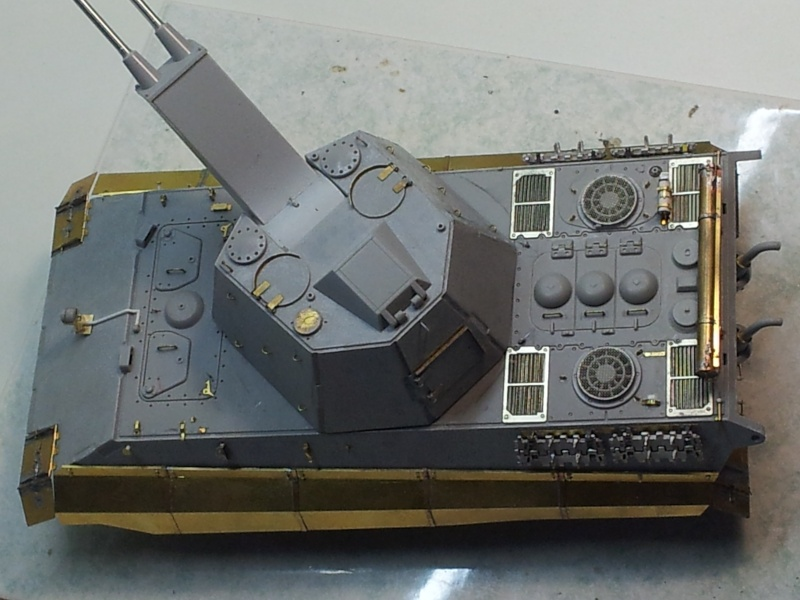 E-75 Flakpanzer [TRUMPETER] PE [VOYAGER MODEL] Canons [RB MODEL] Chenilles [FRIUL] (Weather en cours 20131220