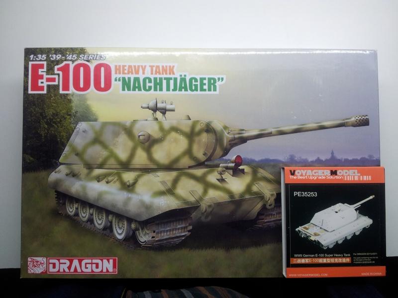 [Terminé] E-100 DRAGON 1/35 avec PE Voyager Model + tourelle KRUPP (par Rhino) + chenilles Friul 20140111