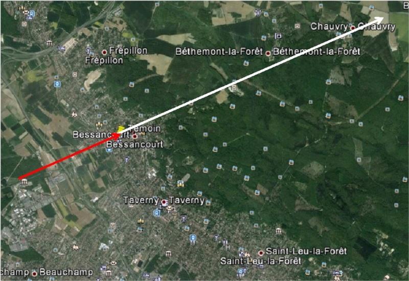 2013: le 01/08 à 02h30 - Lumière étrange dans le ciel  - Bessancourt - Val d'Oise (dép.95) Bessan11