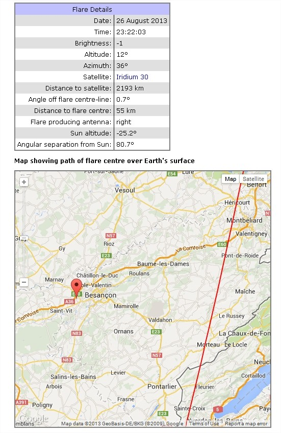 2013: le 26/08 à 23h15 - une boule lumineuseBoules lumineuses - Chemaudin - Doubs (dép.25) Chemau10