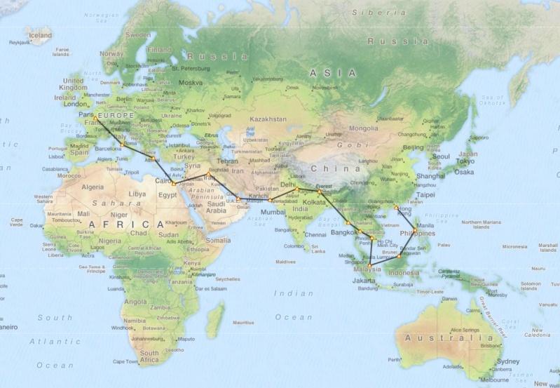 Tour du monde en liner Captur45