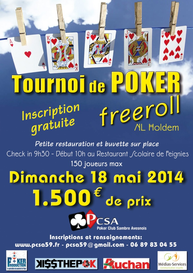 freeroll PSCA - Feignies - 18/05/2014 Affich10