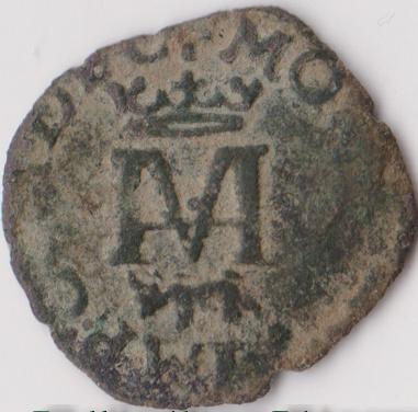 Liard de Pau, pour Henri III et Marguerite de Valois. A_id1_10