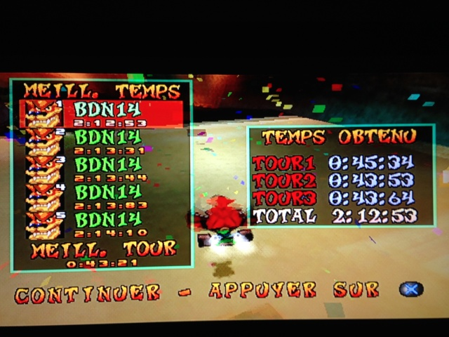 [Jeux Rétrolympiques 2014] Round 3 : Crash Team Racing PS1 Img_1211