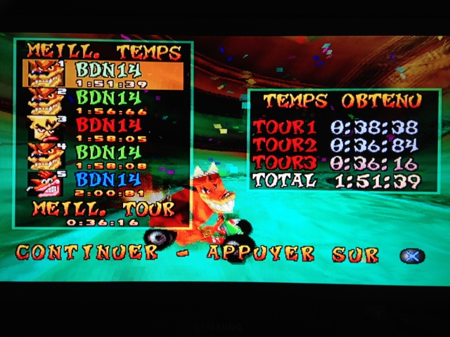 [Jeux Rétrolympiques 2014] Round 3 : Crash Team Racing PS1 Img_1212