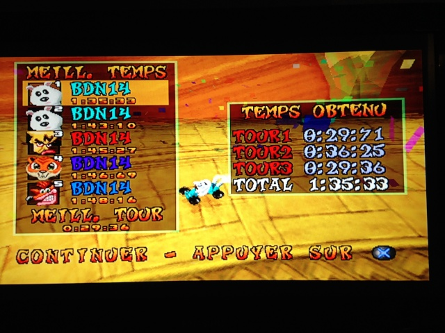 [Jeux Rétrolympiques 2014] Round 3 : Crash Team Racing PS1 Img_1213