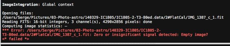 Pixinsight: empty image et autres warning (résolu) Falt-i10