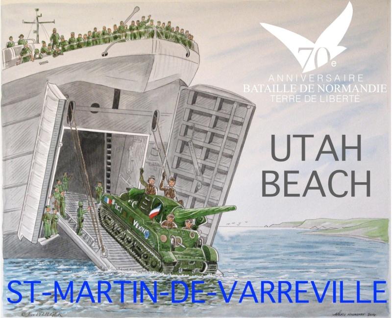 SAINT-MARTIN-DE-VARREVILLE 2-3 août 2014-70ème anniversaire Aquare11
